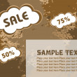 75% and 50% discount banner — Stock Vector #2504644