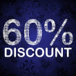 60% discount blue vector — Stock Vector