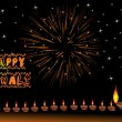 Royalty-Free Stock Vector Image: Deppwali background with deepak