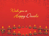 Wish you a happy diwali background — Stock Vector