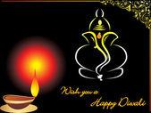 Gretting card for diwali celebration — Stock Vector