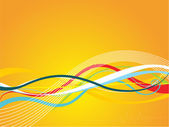 Abstrcat wave, stripes background — Stock vektor