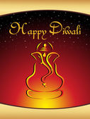 Illustration gretting card for diwali — Stock Vector