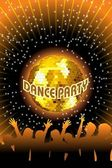 Illustration of dance party background — Stock Vector