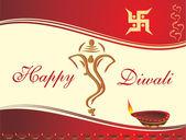 Vector card for diwali — Stock Vector