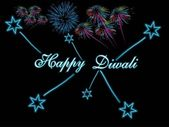 Background with colorful firework, star — Vetorial Stock