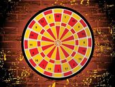 Dartboard on white background — Stock Vector
