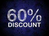 60% discount blue vector — Stock Vector