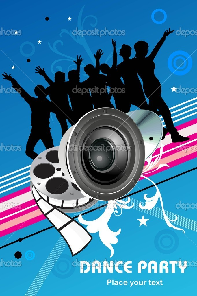 Abstract dance party background, vector illustration  Stock Vector #2503451