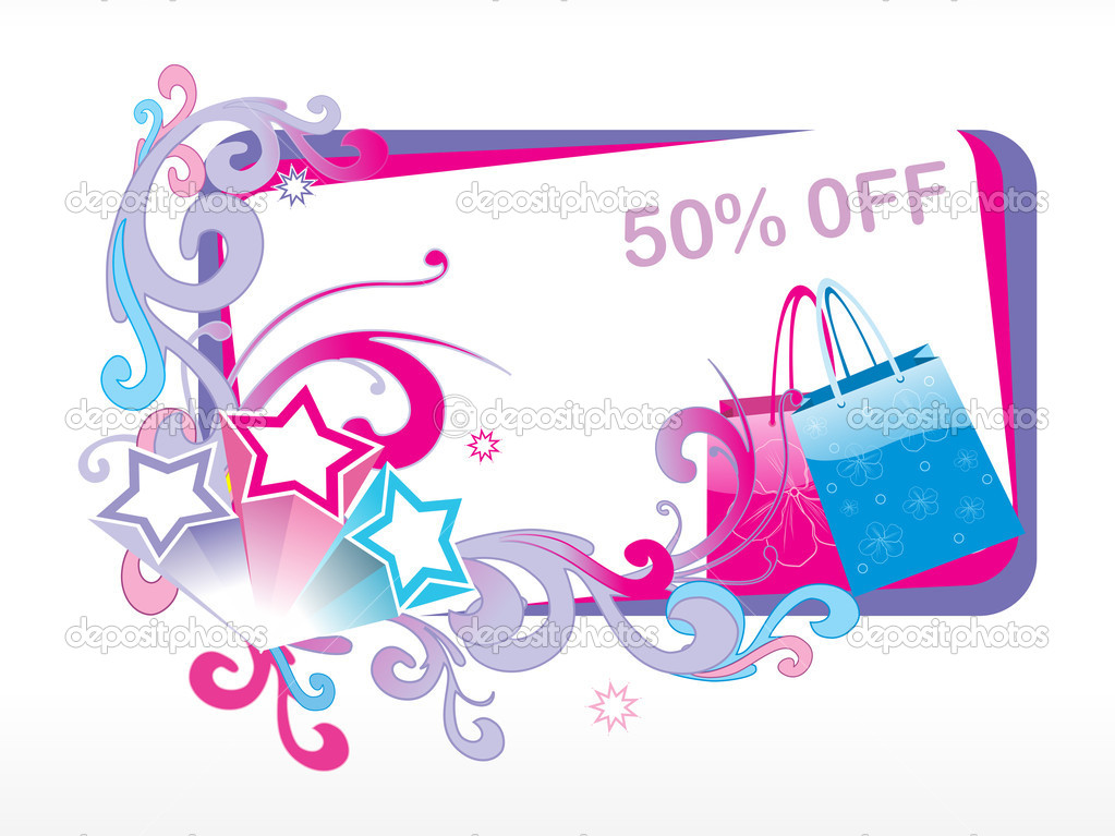 Avail upto 50% discount on fancy bags, vector illustration — Stock Vector #2504669