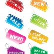 Designer shoping tag in diffrent colors — Imagen vectorial