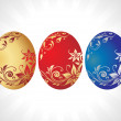 Easter eggs vector, design11 — Stock Vector