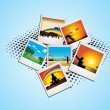 Illustration collection of photos - Stock vektor