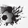 Royalty-Free Stock Vector Image: Illustration- grungy soccer ball