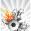 Vector soccer ball with star — Stock Vector