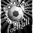 Royalty-Free Stock Vector Image: Retro background with football
