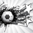 Stock Vector: Background with grungy soccer ball