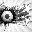 Background with grungy soccer ball — Stock Vector