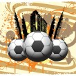 Soccer ball with city - Stock Vector