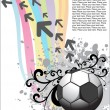 Artistic design with football — Stock Vector
