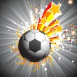Background with soccer and star - Grafika wektorowa