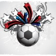 Grunge background with soccer - Image vectorielle