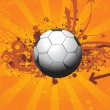 Royalty-Free Stock Vector Image: Grungy soccer illustration