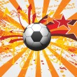 Grunge background with soccer — Stock Vector #2515484