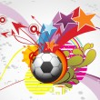 Funky background with football - Image vectorielle