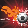 Royalty-Free Stock Vector Image: Background with soccer and wave