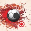 Dirty background with soccer - Image vectorielle