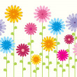 Flower pattern background — ストックベクタ
