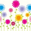 Flower pattern background — Imagen vectorial
