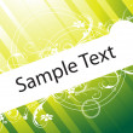 Flower wallpaper of sample text — Stock Vector