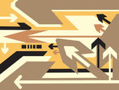 Direction of movement wallpaper — Stock Vector