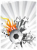 Vector soccer ball with star — Stock Vector