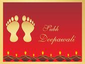 Footprints of Goddess laxmi — Stock Vector