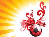 装饰的足球图 — 图库矢量图片