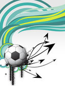 Background with soccer — Stock Vector