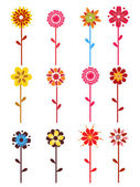 Colorful bloom on white background — Stock Vector