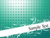 Diseño de follaje y remolinos — Vector de stock