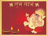 Elephant god Ganesha — Stock Vector