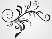 Background with flourish design tattoo — Stock Vector