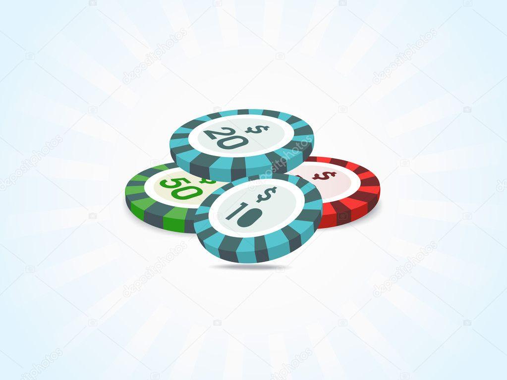 Stacks of poker chips ...