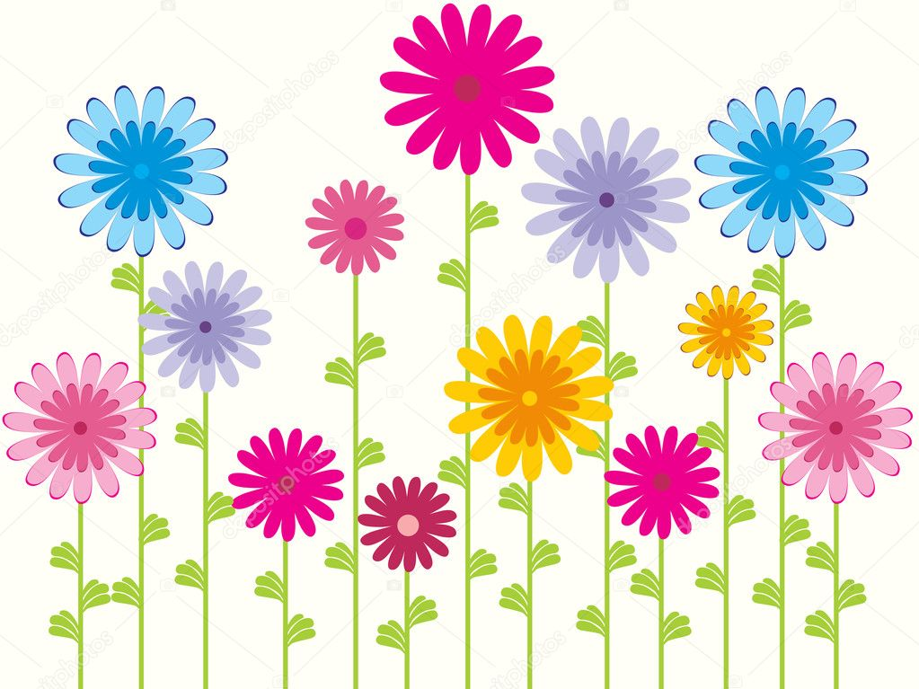 Flower pattern background, wallpaper — ベクター素材ストック #2516790