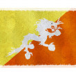 Flag of Bhutan on background — Stock Photo