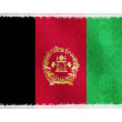 Flag of Afghanistan on background - Stock Photo