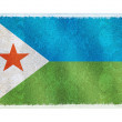 Постер, плакат: Flag of Djibouti on background