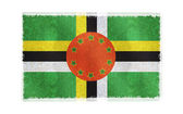 Flag of Dominica on background — Stock Photo
