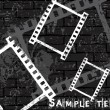 Film strip vector grunge background — Stock vektor